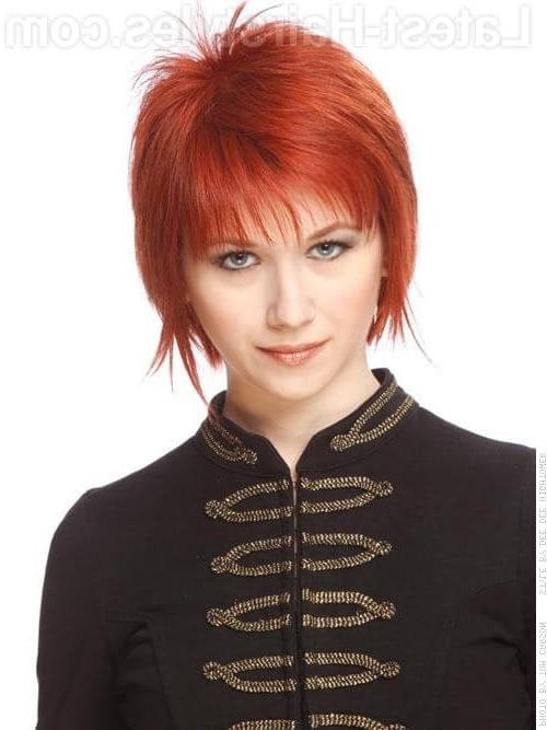 Fire Red Short Hairstyles – Hairstyle Ideas In Fire Red Short Hairstyles (View 12 of 20)
