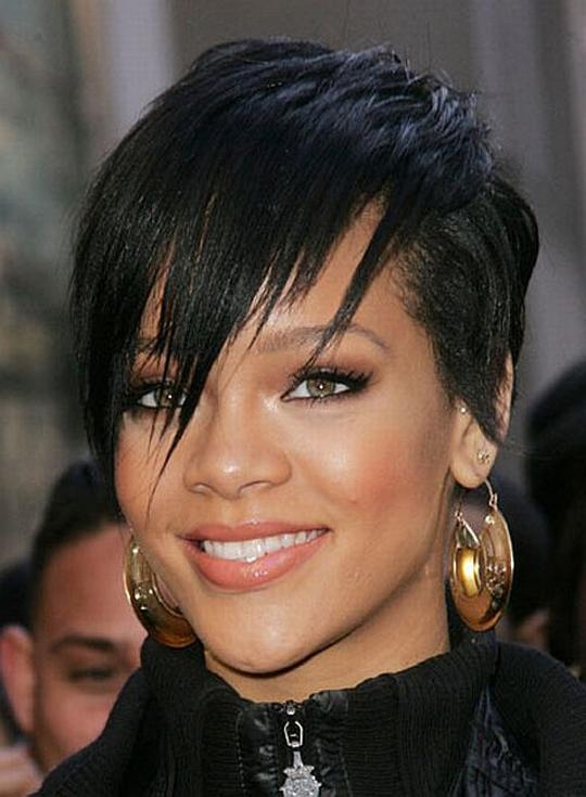 Photo Gallery Of Short Haircuts For Black Women With Thick Hair