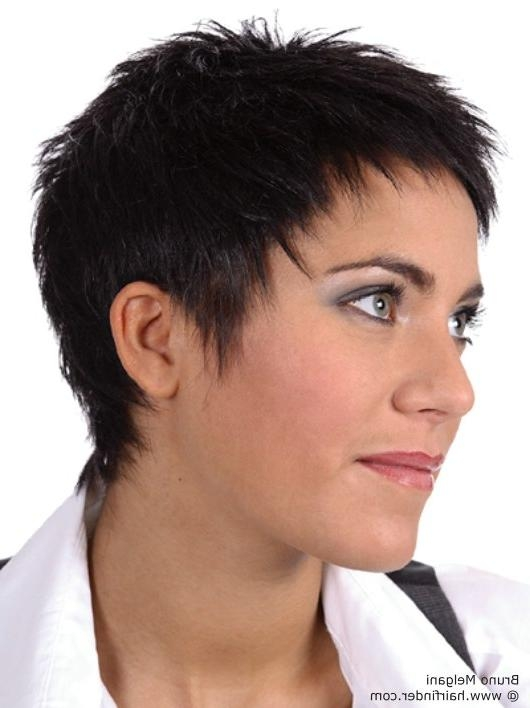 Girl With Low Maintenance Short Buzzed Hair And Little Spikes Regarding Easy Maintenance Short Haircuts (View 15 of 20)