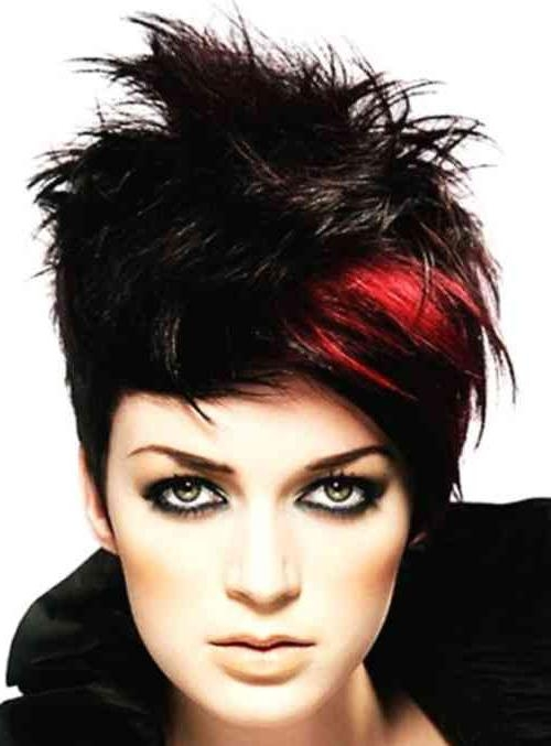Good Looks Red And Black Short Hairstyles | Simple Stylish Haircut With Regard To Red And Black Short Hairstyles (Gallery 7 of 20)