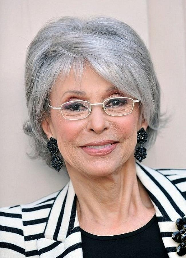 Gray Short Hairstyles For Oval Shaped Face Older Woman With Pertaining To Short Haircuts For Coarse Gray Hair (View 3 of 20)