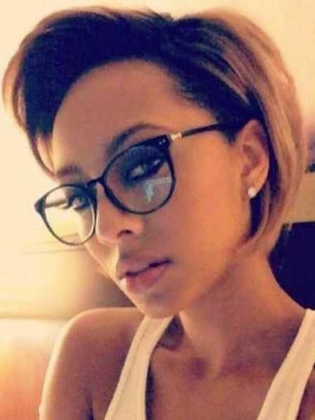 Great Short Hairstyles For Black Women | Glasses – Designer Within Short Haircuts For Women With Glasses (View 14 of 20)