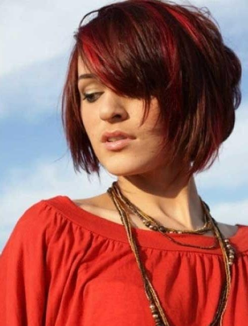 Hair Color Styles For Short Hair | Hairstyle Ideas In 2017 With Regard To Short Haircuts With Red Hair (View 7 of 20)