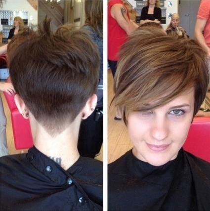 Haircut With Long Side Bangs With Short Haircuts With Long Side Bangs (View 16 of 20)