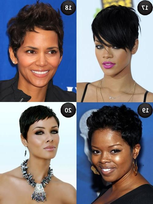Haircuts For Black Women With Oval Faces 2017 Within Short Haircuts For Black Women With Oval Faces (View 8 of 20)