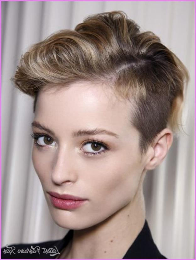 Photo Gallery Of Short Hairstyles For High Cheekbones Viewing 13