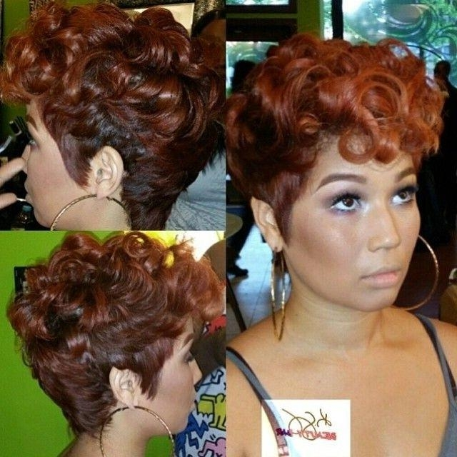 Hairstyles For Short Hair African American Women | Hair Style And Within Short Hairstyles With Color For Black Women (View 12 of 20)