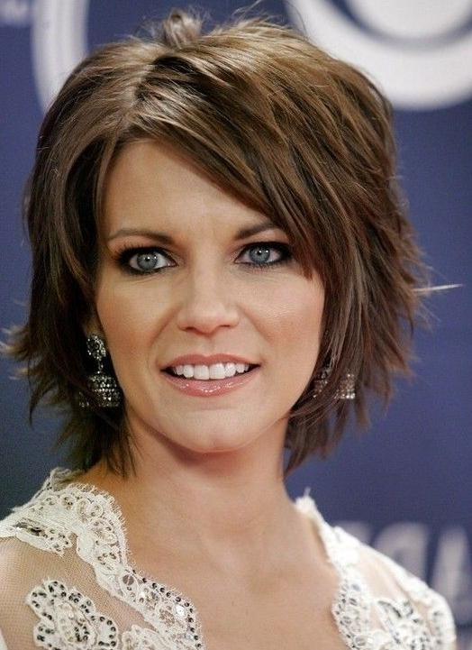 Photo Gallery Of Choppy Short Hairstyles For Thick Hair Viewing 4