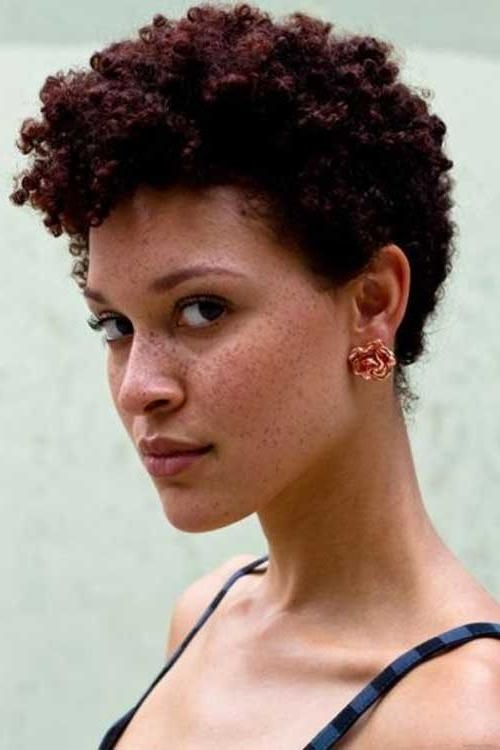 Hairstyles Her Natural Curly : 11 Awesome Short Haircuts For Pertaining To Black Women Natural Short Hairstyles (View 17 of 20)