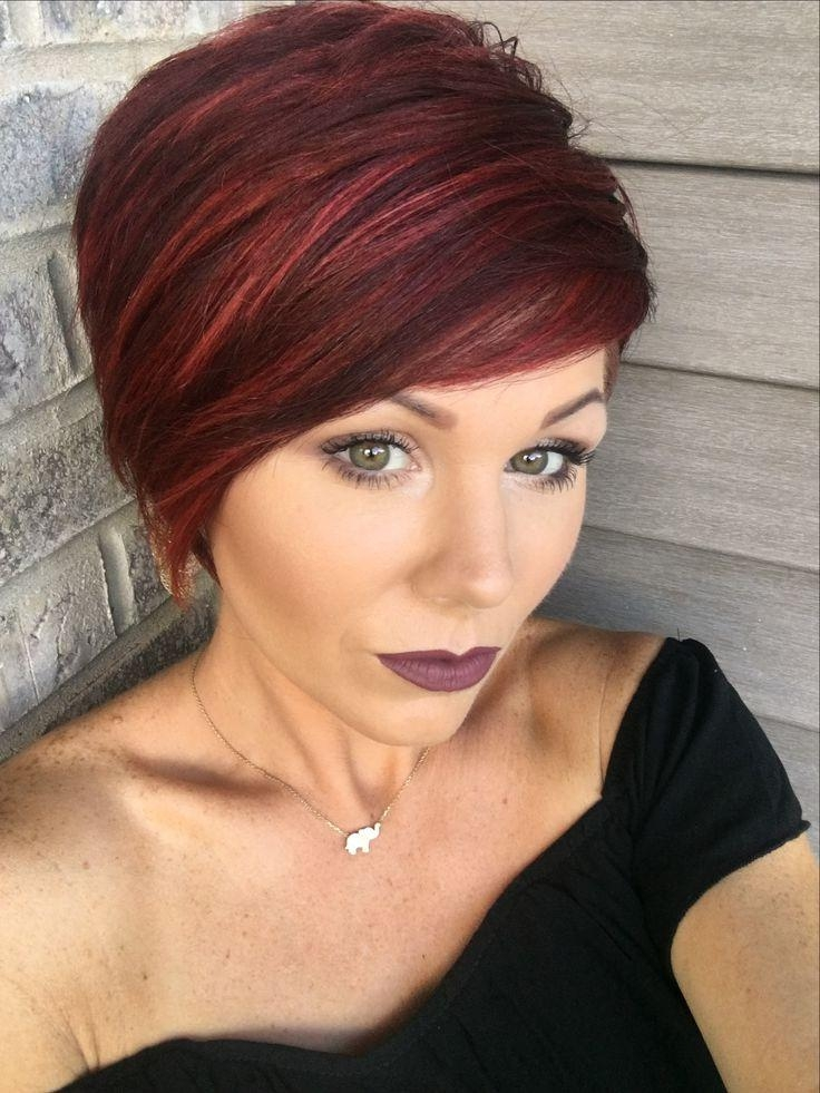 Hairstyles Ideas : Short Haircut Red Highlights Eye Catching Short Pertaining To Red Short Hairstyles (View 13 of 20)