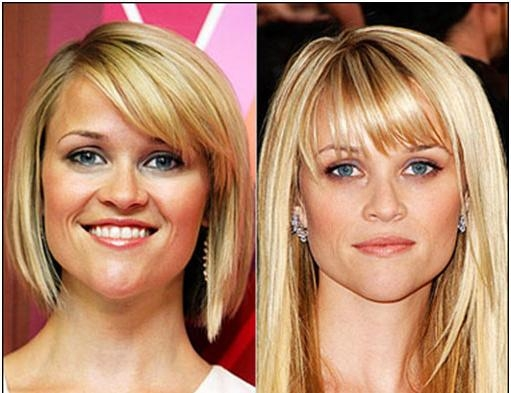 Heart Shaped Face Best Short Bangs Hairstyle For Fine Hair Pear Intended For Short Hairstyles For Pear Shaped Faces (View 11 of 20)
