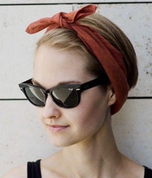 How To Create A Hairstyle With A Bandana – Pretty Designs For Short Hairstyles With Bandanas (View 7 of 20)