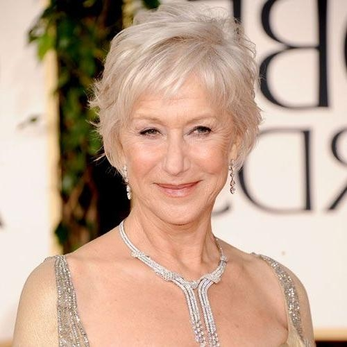 How To Get Helen Mirren's Tousled Golden Globes Hairstyle | Women For Older Ladies Short Haircuts (View 15 of 20)