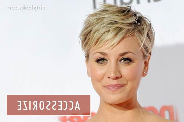 How To Style Short Hair / Hair Extensions Blog | Hair Tutorials For Kaley Cuoco New Short Haircuts (View 11 of 20)