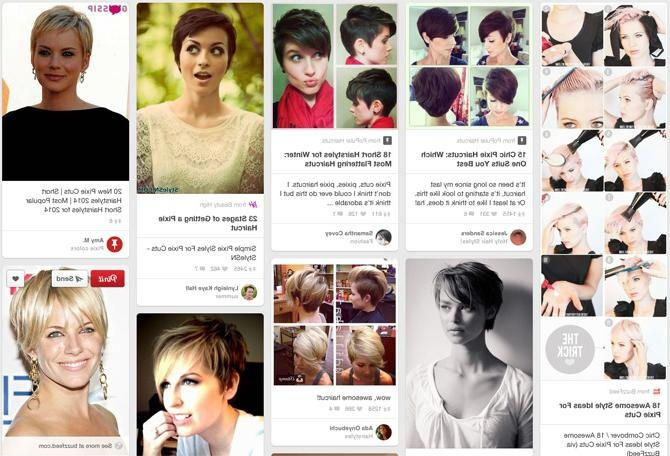 If You Want To, You Should Totally Chop Off All Your Hair Throughout Short Hairstyles For Growing Out A Pixie Cut (Gallery 14 of 20)