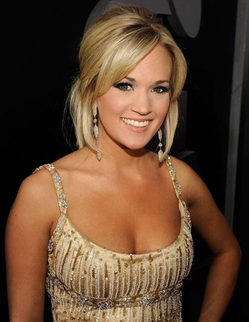 Images Of Carrie Underwood New Haircut] Carrie Underwood Cutting With Regard To Carrie Underwood Short Hairstyles (View 19 of 20)