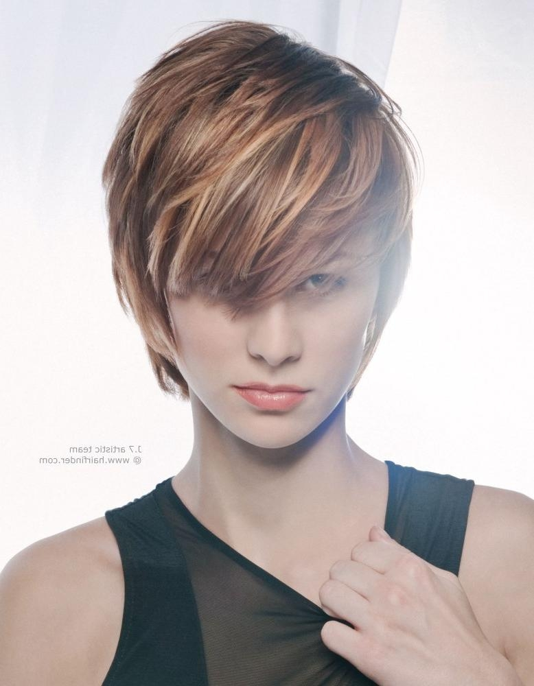 Jagged Short Haircut With Highlights And Lowlights Within Short Hairstyles And Highlights (View 18 of 20)