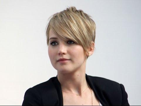 Jennifer Lawrence Golden Globes Pixie Haircut Tutorial – Youtube Pertaining To Jennifer Lawrence Short Haircuts (View 15 of 20)