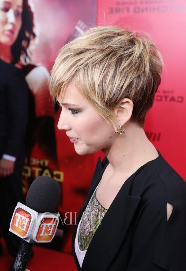 Jennifer Lawrence Short Haircut | Short Hairstyles 2016 – 2017 Throughout Jennifer Lawrence Short Hairstyles (View 13 of 20)