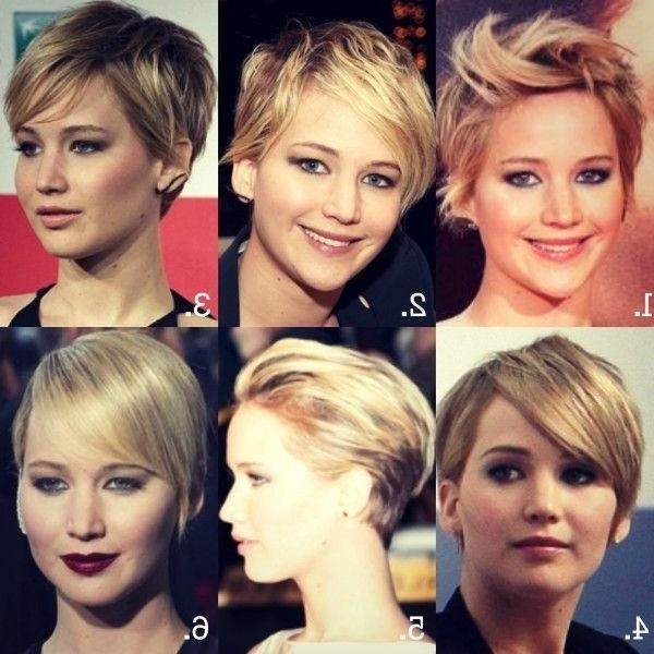 Jennifer Lawrence Short Haircuts: Cute Straight Hair – Popular With Jennifer Lawrence Short Hairstyles (Gallery 14 of 20)