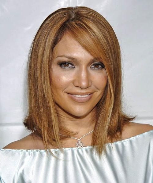 Jennifer Lopez Medium Straight Formal Hairstyle Pertaining To Jennifer Lopez Short Haircuts (Gallery 7 of 20)