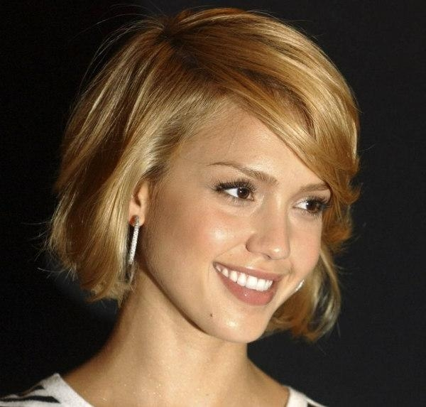 Jessica Alba Bob Short Hairstyle Flipcute Short Haircuts With Cute Choppy Shaggy Short Haircuts (Gallery 9 of 20)