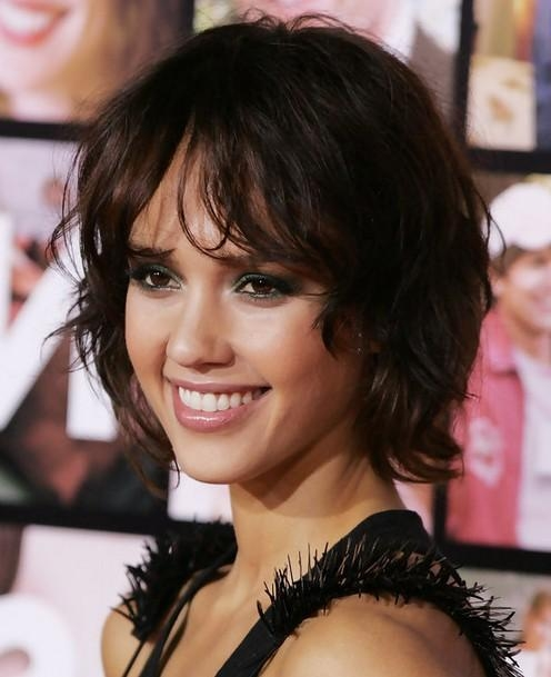 Jessica Alba Hairstyles: Messy Short Haircut – Popular Haircuts With Jessica Alba Short Haircuts (View 7 of 20)