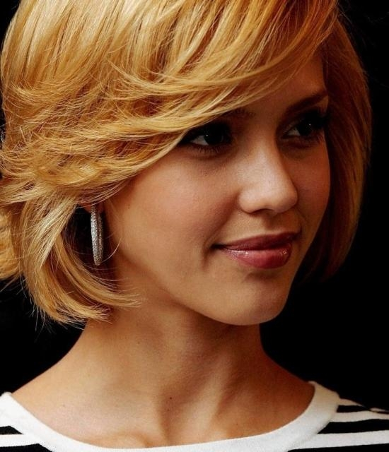 Jessica Alba Short Hairstyles 2014 Pic5 Intended For Jessica Alba Short Hairstyles (Gallery 18 of 20)
