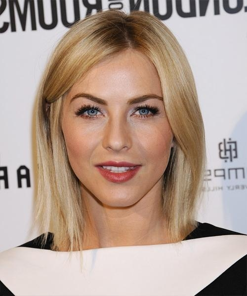 Julianne Hough Medium Straight Formal Hairstyle – Medium Blonde With Regard To Julianne Hough Short Hairstyles (View 16 of 20)