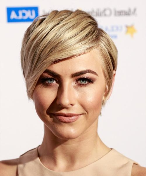 Julianne Hough Short Straight Formal Hairstyle With Side Swept Throughout Julianne Hough Short Haircuts (Gallery 20 of 20)