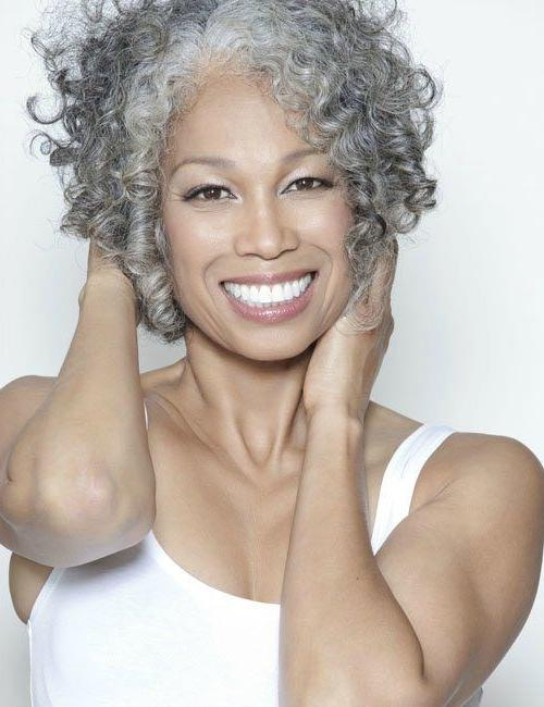Julie Aynne (Aynnejulie) On Pinterest Pertaining To Short Hairstyles For Black Women With Gray Hair (View 17 of 20)