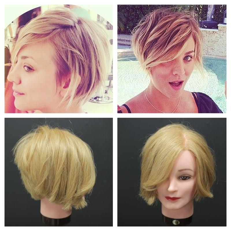 Photo Gallery Of Kaley Cuoco New Short Haircuts Viewing 6 Of 20 Photos