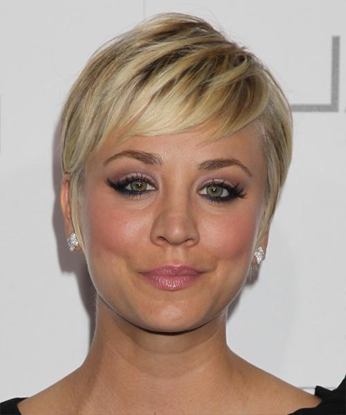 Kaley Cuoco Short Straight Formal Hairstyle – Medium Blonde For Kaley Cuoco New Short Haircuts (View 19 of 20)