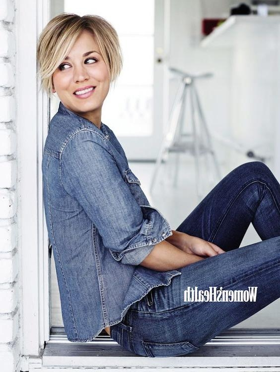 Kaley Cuoco Sweeting Talks Big Bang Theory And Being Typecast Inside Short Hairstyles With Big Bangs (Gallery 20 of 20)