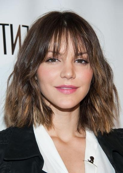 Katharine Mcphee Short Haircut – Lovely Short Ombre Hair For 2014 In Short Hairstyles With Wispy Bangs (View 16 of 20)