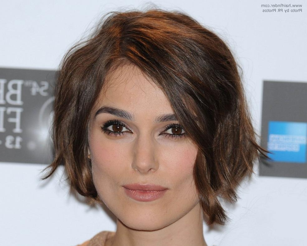 Keira Knightley With Curled Short Hair Intended For Keira Knightley Short Haircuts (View 16 of 20)