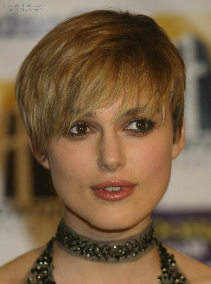 Keira Knightley's Extra Short Haircut With Forward Styling With Regard To Keira Knightley Short Hairstyles (View 18 of 20)