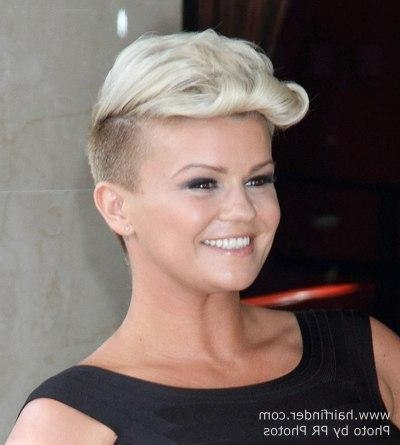 Kerry Katona | Dramatic Short Haircut With Shaved Sides And A With Regard To Short Haircuts With Shaved Side (View 12 of 20)