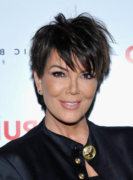 Kris Jenner Messy Cut – Kris Jenner Short Hairstyles Looks Regarding Short Haircuts Kris Jenner (Gallery 2 of 20)