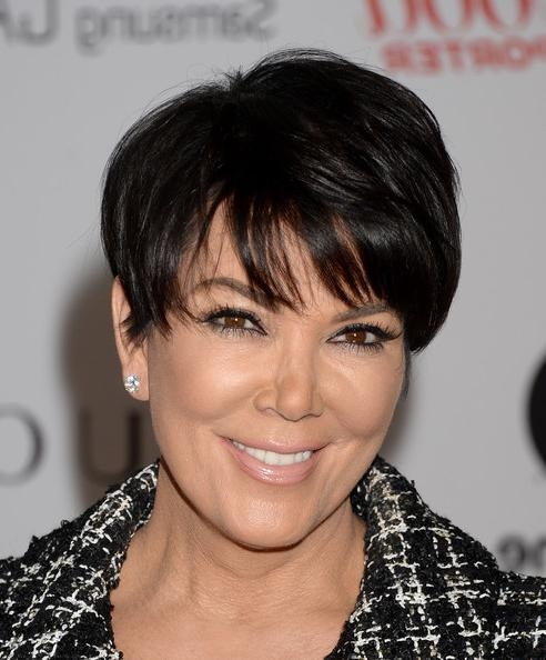 Kris Jenner Short Cut With Bangs – Kris Jenner Hair Looks Regarding Kris Jenner Short Hairstyles (View 12 of 20)