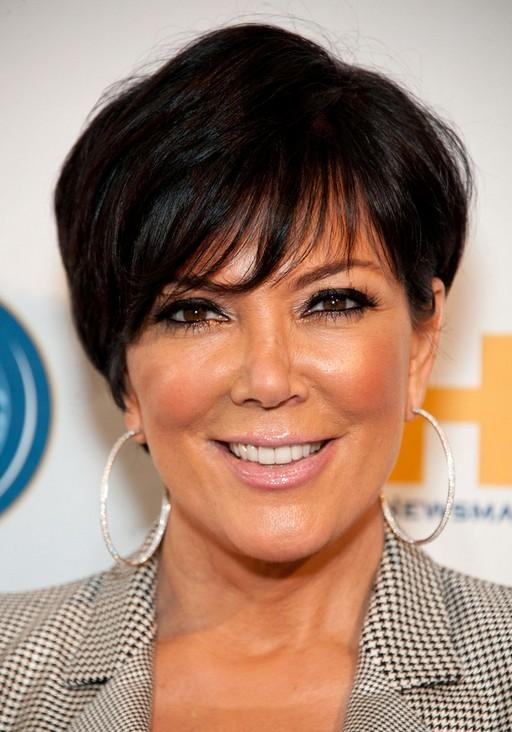 Kris Jenner Short Layered Haircut With Bangs For Women Over 50 Inside Kris Jenner Short Haircuts (View 12 of 20)