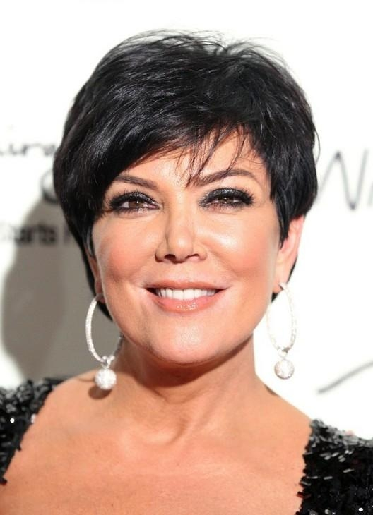 Kris Jenner Side Parted Layered Short Haircut For Women Over 50 Within Kris Jenner Short Haircuts (View 14 of 20)