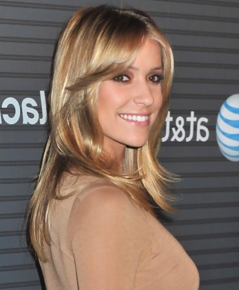Kristin Cavallari Long Hairstyle: Layered Haircut For Office Lady Regarding Kristin Cavallari Short Haircuts (Gallery 17 of 20)