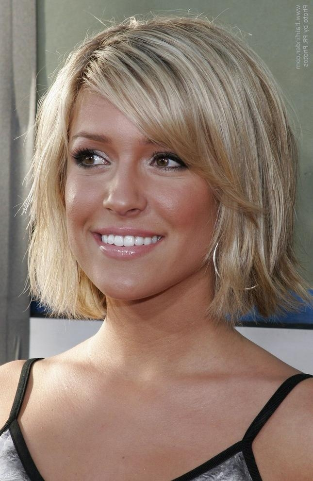 Kristin Cavallari With Her Hair Cut Short And Halfway Up Her Neckline Inside Kristin Cavallari Short Hairstyles (View 15 of 20)