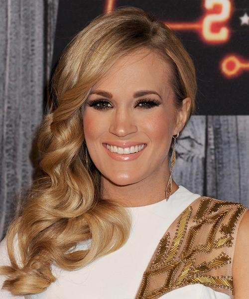 Latest Carrie Underwood Long Hairstyles With Carrie Underwood Long Wavy Formal Hairstyle – Dark Blonde (Golden (View 9 of 15)