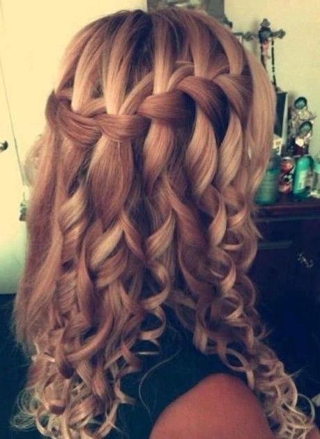 Latest Curly Long Hairstyles For Prom Intended For 25+ Unique Curly Prom Hairstyles Ideas On Pinterest | Curly (View 7 of 15)