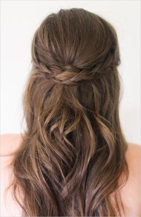 Latest Half Up Long Hairstyles With The 25+ Best Half Up Half Down Ideas On Pinterest | Prom Hair Down (View 10 of 20)