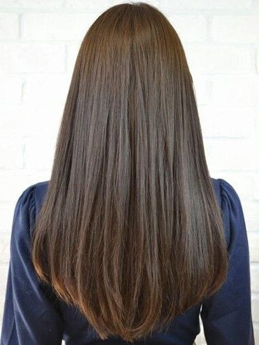 Latest Long Haircuts For Women With Straight Hair Inside 25+ Unique Long Straight Haircuts Ideas On Pinterest | Straight (View 4 of 15)