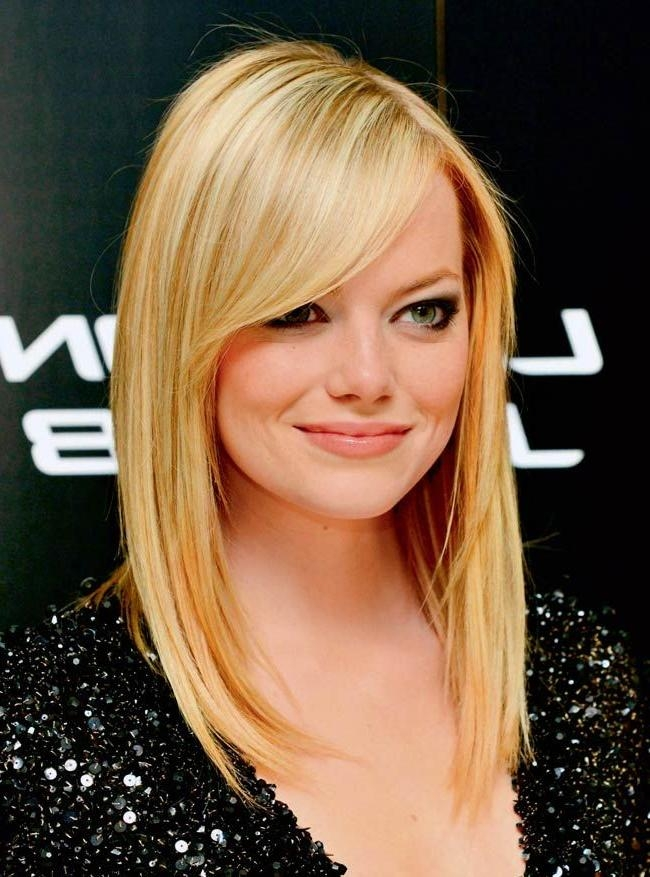 Latest Long Haircuts With Swoop Bangs Regarding Medium Length Hair With Swoop Bangs (View 8 of 15)