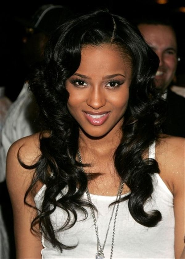 Latest Long Hairstyles For Black Ladies Intended For Women Hairstyles : Black Girl Hairstyles Medium Length Hair Black (View 6 of 20)
